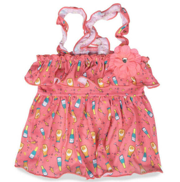 SIMPLY WAG PINK quot;MIMOSAquot; STRAPPY Dress Puppy Dog MEDIUM $16.50