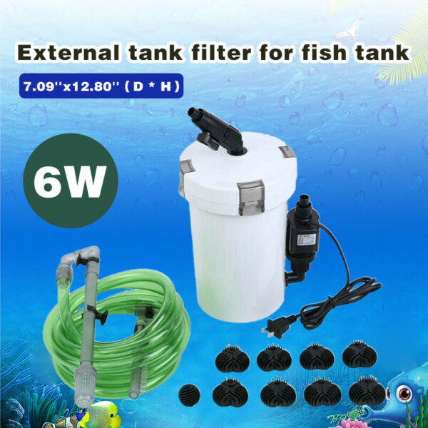 HW 603B Aquarium Fish Tank External Canister Filter Outside Table Top Pre Filter $34.45