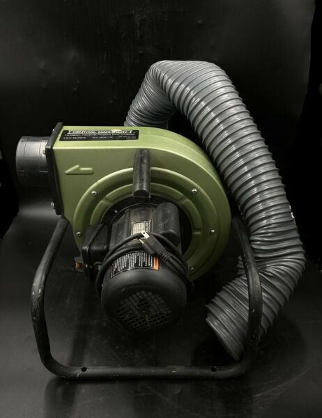 Used Central Machinery 1 HP 13 Gallon Industrial Portable Dust Collector w Bag $85.00