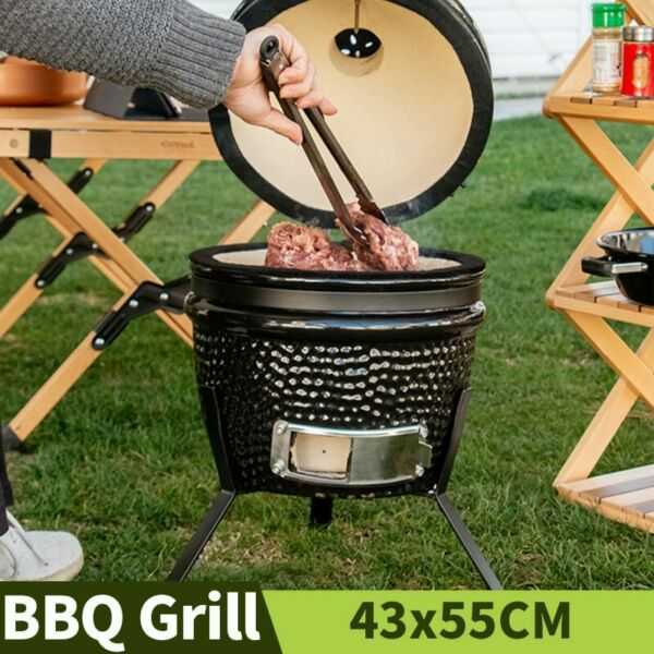 13quot; BBQ Grill Outdoor Charcoal Braised Oven Garden Barbecue Grill Smoked Furnace $247.89