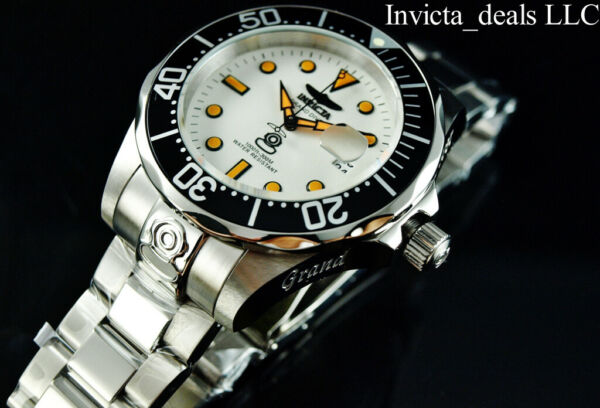 Invicta Men#x27;s 47mm GRAND DIVER Automatic NH35A FULL LUME Dial SS Bracelet Watch $114.89