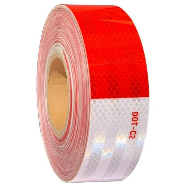 2quot;x150 Dot C2 PREMIUM Reflective Red and White Conspicuity Tape Trailer USA $21.99