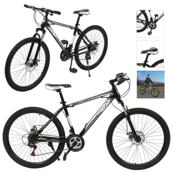 Mountain Bike Full Suspension 21 Speed Mens Bikes MTB 24quot; 26quot; Bicycle USA $169.99