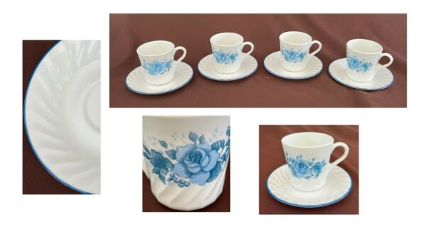 VINTAGE Corelle Dinnerware Add On Replacement Cups and Saucers 8 Piece Set $38.88