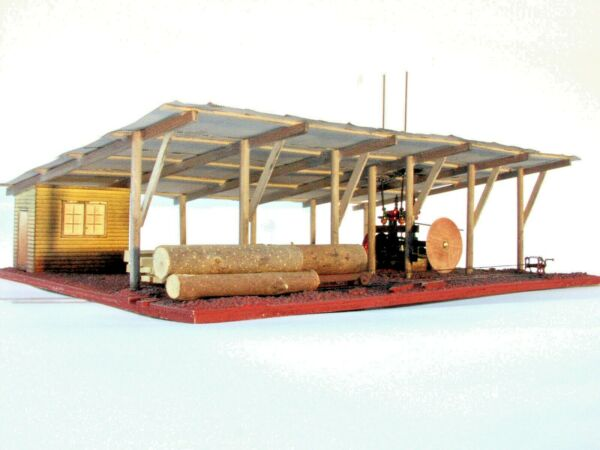 Complete HO Scale Twin Cylinder Steam Sawmill Kit with Boiler House LAST ONE AU $185.00