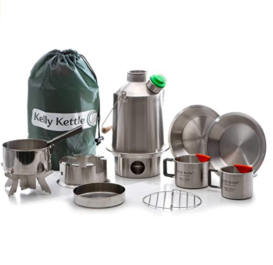 Kelly Kettle Ultimate Base Camp Kit – Stainless Steel Camp Kettle = 50119 $159.00