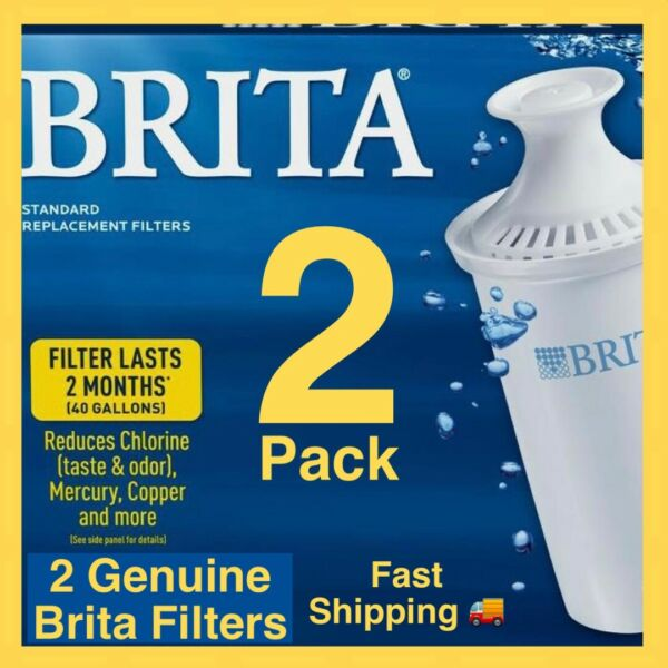 💧2x Pack Genuine BRITA Water Filtration Pitcher Replacement Filter Cartridges