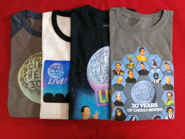 NEW MST3K VARIETY PACK: LOT of 4 ASSORTED CONCERT SHIRTS Size M