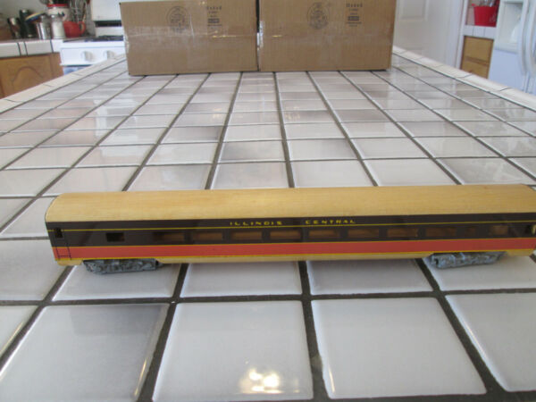 very old ILLINOIS CENTRAL wood metal passenger car HO SCALE $18.90