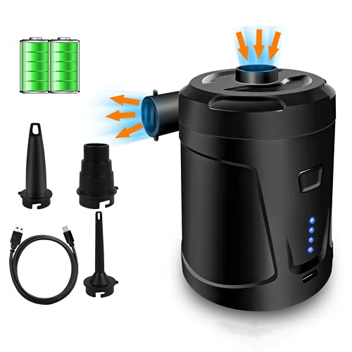 Electric Air Pump Portable Rechargeable Air Pump for Pool Inflatables Electric $27.10