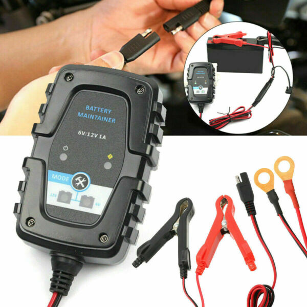 12V 6V Auto Car Trickle Battery Charger Maintainer for Motorcycle Boat US STOCK $17.95