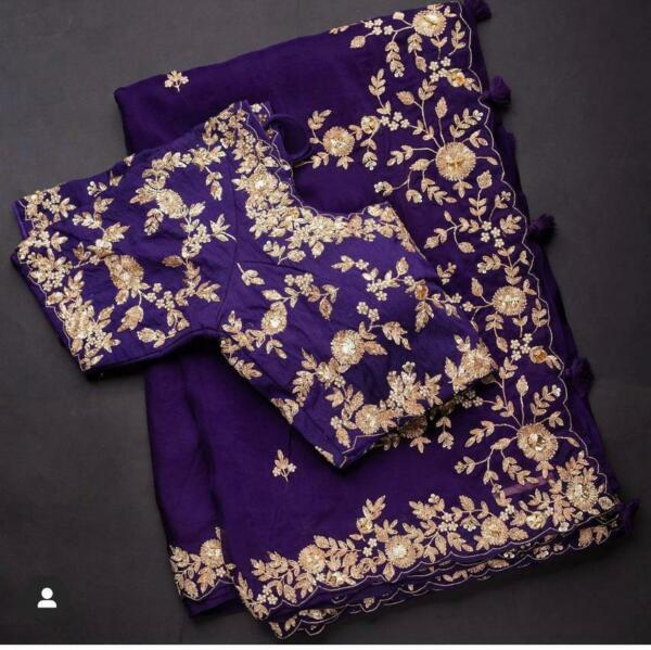 Georgette Traditional New Saree Wedding Reception women#x27;s Look Sari Blouse RTY $38.69