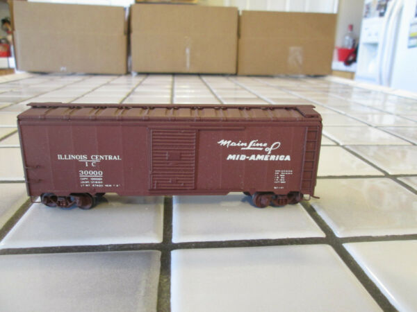 VINTAGE VERY OLD ILLINOIS CENTRAL WOOD METAL BOX HO SCALE $14.90