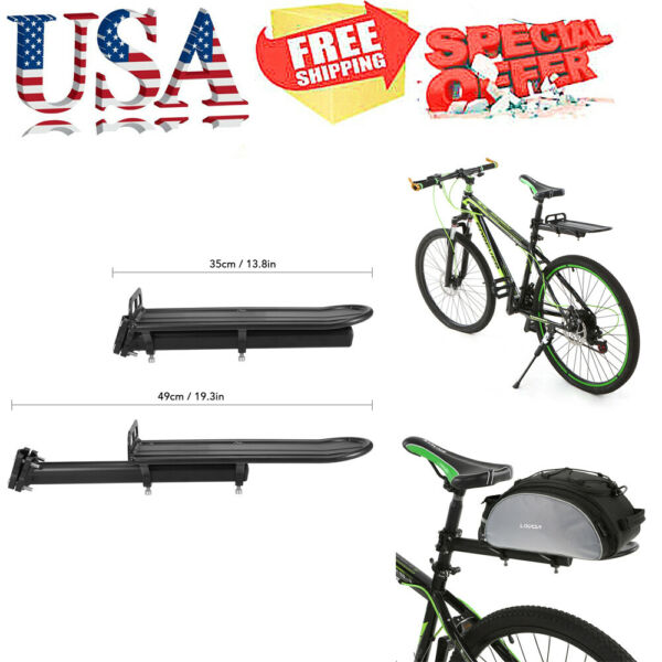 Retractable Bike Cargo Rack Bicycle Rear Seat Post Rack w Rubber Padamp;Wrench L7M9 $20.34