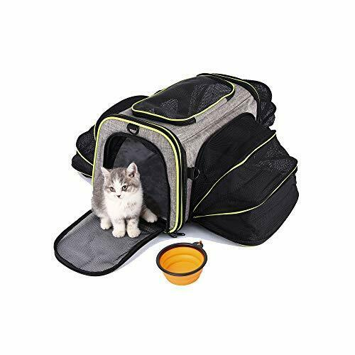 Cat Carrier Dog Carriers Airline Approved Soft Sided Pet Travel Bag Portable $57.28