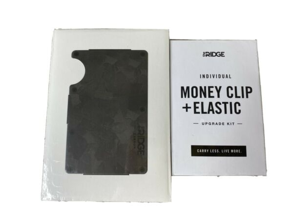 The Ridge Wallet Forged Carbon Money Clip BRAND NEW FAST FREE SHIPPING $109.99