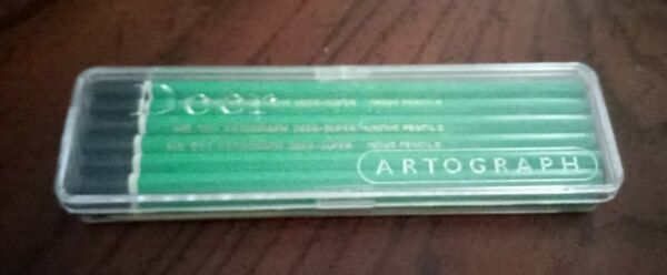Antique Box Of 12 Pencil Leads Artograph Deer Super HB New old Stock