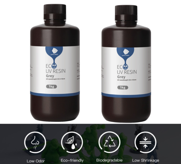 ANYCUBIC 2 * 1kg Plant based Resin for SLA 3D Printer Photon Mono UV Curing 2kg $52.00