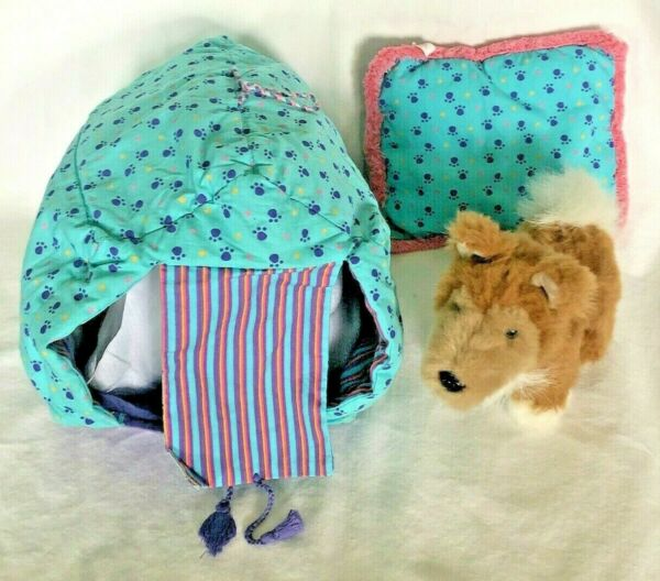 American Girl Retired Pet Dog Coconut's Reversible Carrier Bed And Toasty Dog $20.00