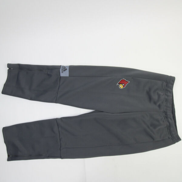 Louisville Cardinals adidas Athletic Pants Men#x27;s Gray New with Tags