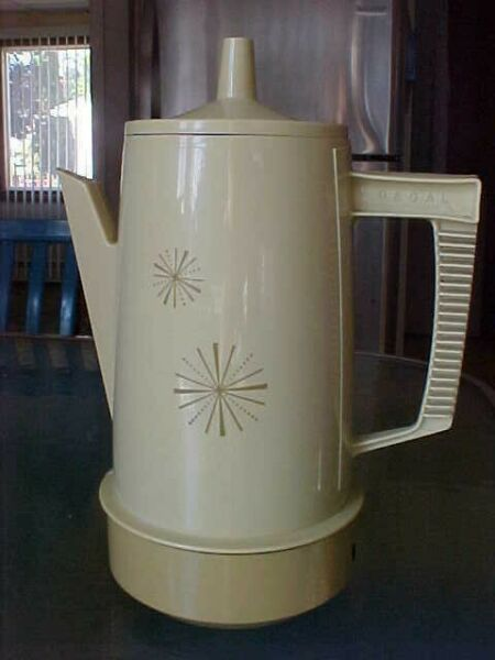 Vtg Regal Poly Perk Electric Coffee Pot Percolator 8 Cup Tested Works Starburst