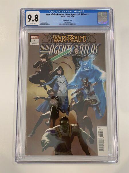 WAR OF THE REALMS NEW AGENTS OF ATLAS #1 CGC 9.8 PARK 1:25 Variant $449.99