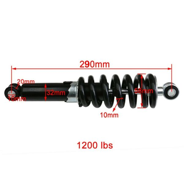 1200lbs 290mm 11.4quot; Rear Shock Absorber for Dirt Pit Bike Trail ATV Yamaha PW80 $31.99