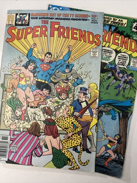 The Super Friends #1 1976 1st appearance of Wendy Marvin and Wonder Dog #20 $29.99