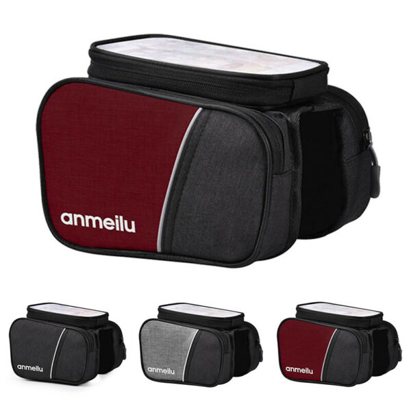 Bike Phone Front Frame Bag Cycling Phone Mount Pack Large Capacity Bicycle Bags $20.99
