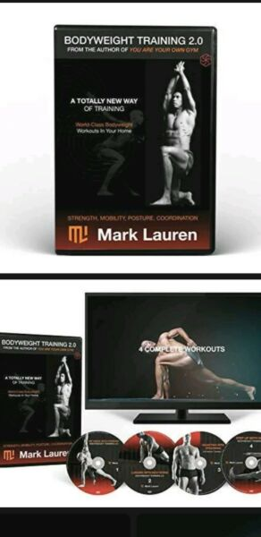 MARK LAUREN You are Your Own Gym Bodyweight Calisthenics Workout DVDs Training $6.99