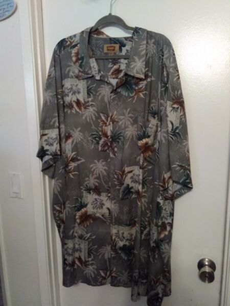 THE FOUNDRY MEN#x27;S CAUSAL BUTTON DOWN SHIRT SHORT SLEEVES SIZE 5XLT