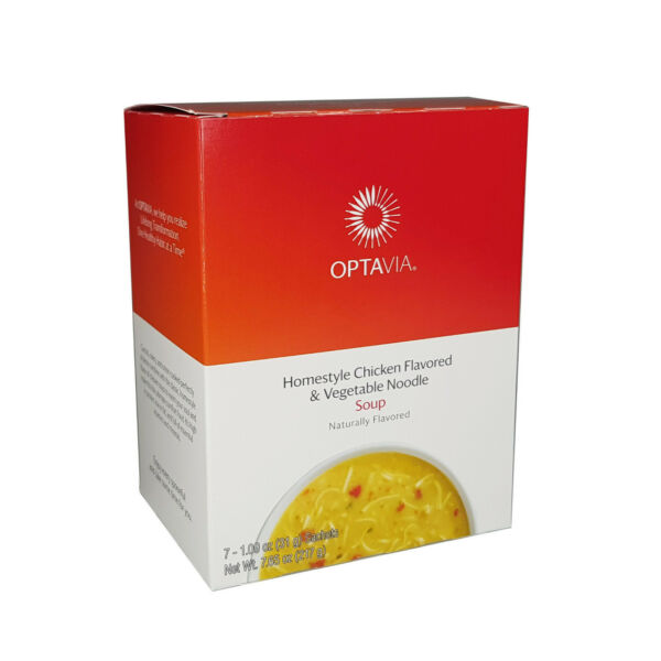OPTAVIA NATURAL Homestyle Chicken Flavored amp; Vegetable Noodle Soup 7 Fuelings $17.99