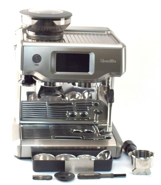 READ Breville BES880 BSS Barista Touch Espresso Maker Stainless Steel INCOMPLETE