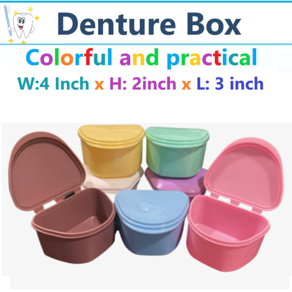 Dental Denture Box Retainer Box Carrier 4W x 2in x 3in Upto 200 Retainers Case $5.99