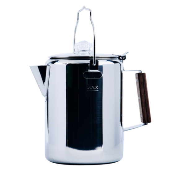 12 Cup Percolator Stainless Steel Coffee Pot Camping Fire Pit RV Travel