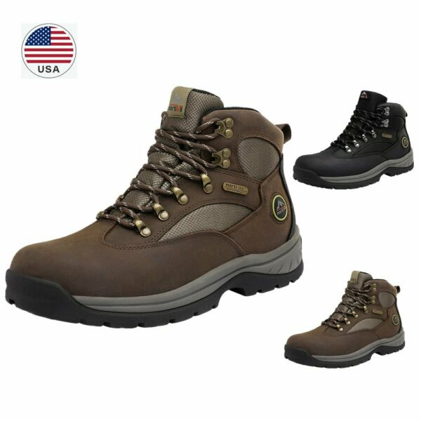 US Men#x27;s Waterproof Advanced Hiking Boots Mid Ankle Leather Hiker Work Boots