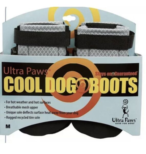 ULTRA PAWS COOL DOG BOOTS SILVER SIZE MEDIUM NWT $24.49