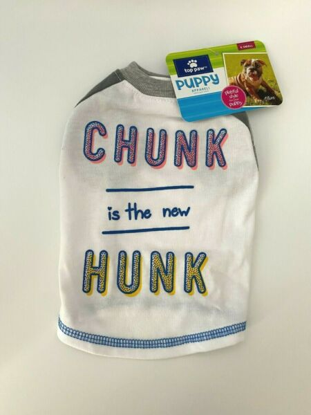 Top Paw Puppy Apparel XS White Blue Funny Shirt Dog clothes $8.50