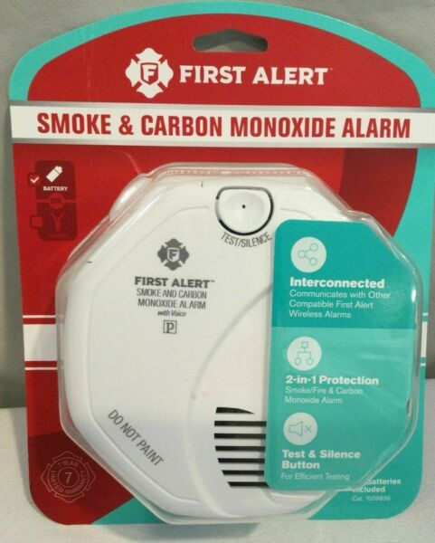 First Alert Smoke amp; Carbon Monoxide Alarm Battery Operated 1039839 NEW SEALED $22.99