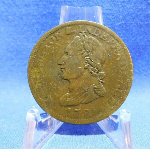 1783 Unity States Washington amp; Independence Colonial Copper Coin