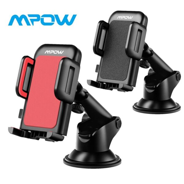 Mpow Gen 2 Mount Holder Car Windshield Stand For Mobile phone GPS iPhone Samsung $10.59