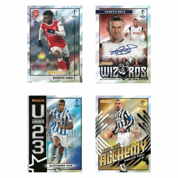 2020 21 Topps Merlin Chrome UEFA Insert Auto Mojo Shimmer SP Rookie RC You Pick $1.99