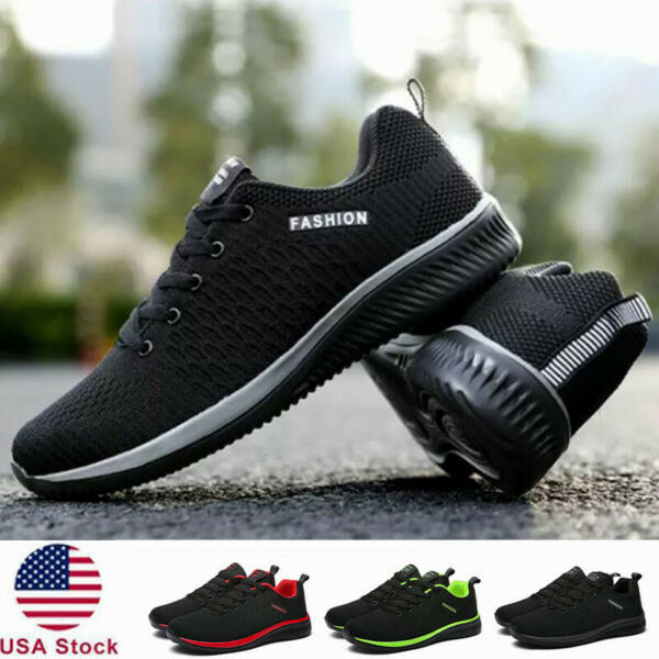 Men#x27;s Athletic Shoes Running Casual Outdoor Tennis Walking Sports Sneakers Size