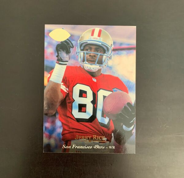 1995 Upper Deck Football Jerry Rice Electric Gold Parallel #44 $11.99