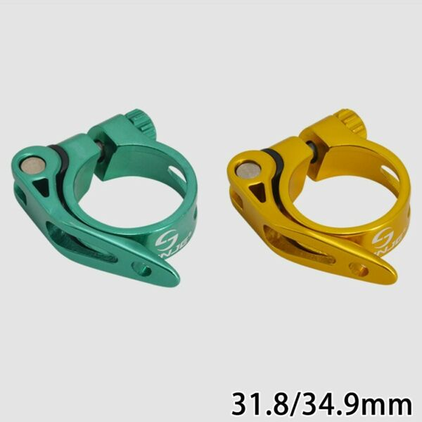 MTB Seatpost Clamp Quick Release Bike Clamp Green 31.8 34.9mm Portable $9.90