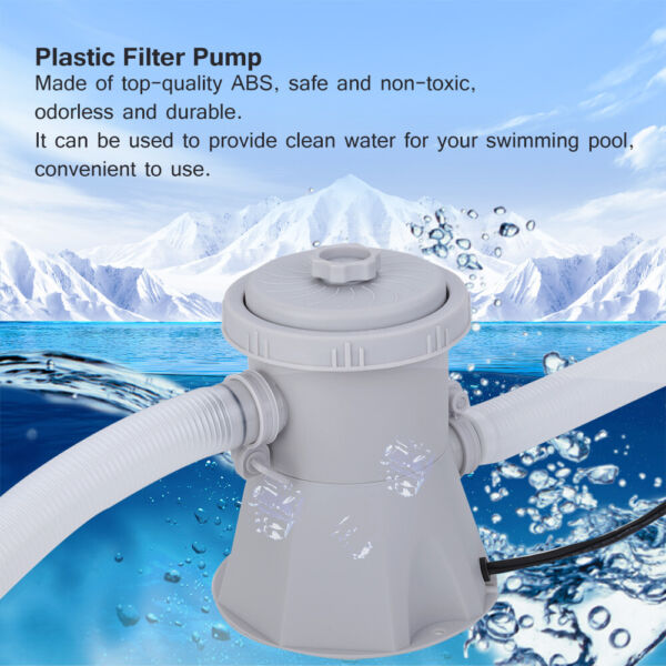 Electric Filter Pump Swimming Pool for Above Ground Pool Water Circulating Tool $43.49