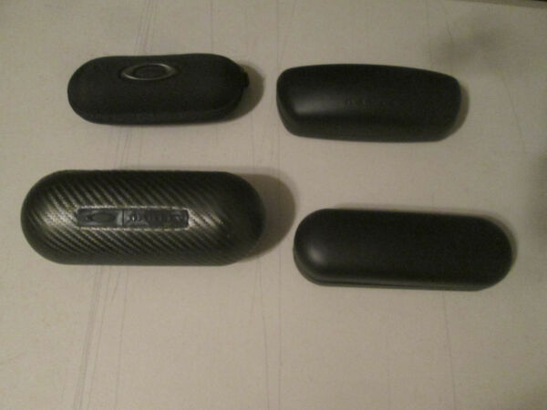 Lot of 4 Oakley Carbon Hard Soft Cases 10 each $39.99
