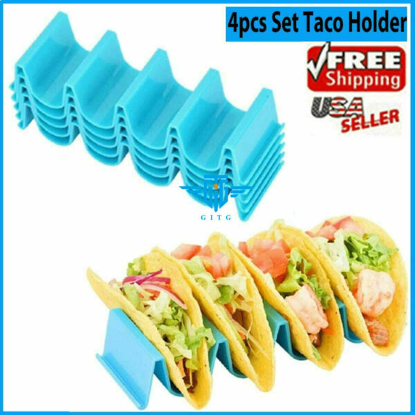 4 Pcs Taco Holder Mexican Food Wave Shape Hard Rack Stand Kitchen Cooking Tool $7.69