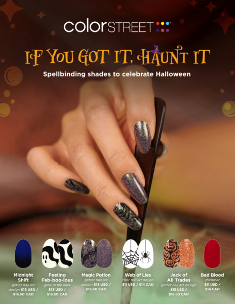 COLOR STREET Nail Strips Halloween Collection 2021 Free Tracked Shipping on 4 $8.95