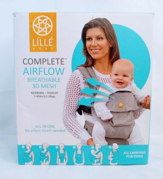LilleBaby Complete Airflow Baby Carrier 3D Mesh Charcoal Silver $39.90